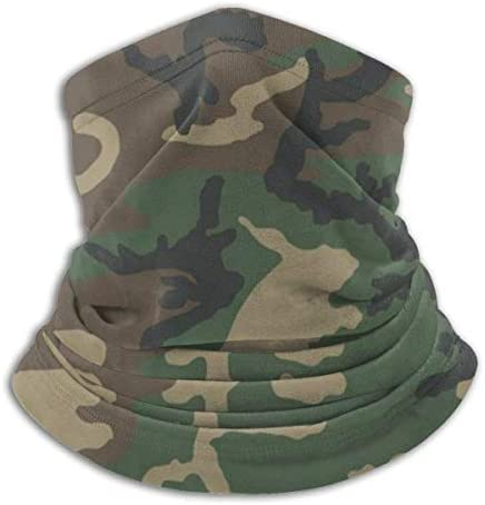 M81 Woodland Camo Seamless Cover Neck Gaiter Bandanas Protection Windproof Face Cover Scarf product image