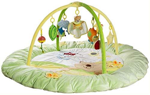 SCLL Couverture d'activité Play Bow for Babies avec 9 Jouets Suspendus Mignons et de la Musique pour Les Nouveau-nés et Les garçons et Les Filles de 0 à 36 Mois, Stable, Vert, Vert