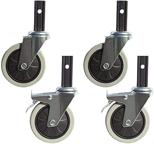 Sysyrqcer Max 59% OFF Moving Caster Wheels 4X Gifts Rubber Wheel I Swivel Inches 4