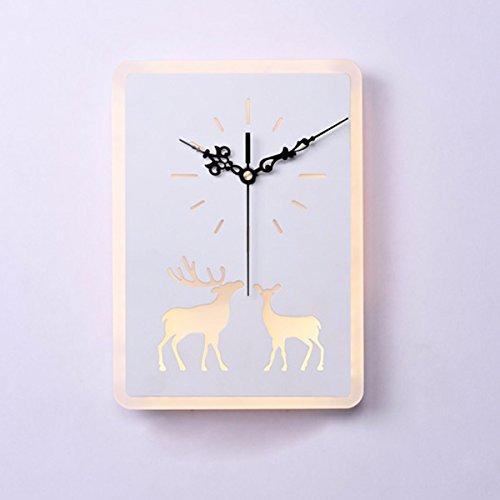 ZPSPZ Applique Murale Chambre De L'Horloge Au Mur Décoratif Fond Créatrice Au Chevet Des Cerfs Salle Salle Mur De Feu,B