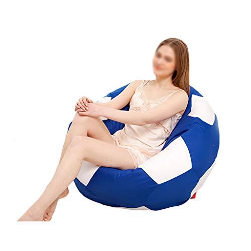 Chaises Longues canapé Chaise de Loisirs canapé Pouf Bean Bag Dossier Balcon Chambre à Coucher Leisure Portable 6 Couleurs (Couleur : C, Taille : 50cm)
