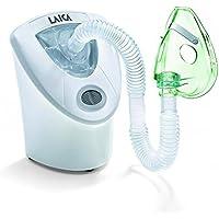 Inhalador-Nebulizador de ultrasonidos Laica MD6026 poco ruidoso, ideal para niños, fácil de usar, desconexión autmática. Incluye transformador para la toda de red.