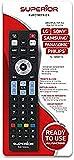 Superior Ready5 SMART - Telecomando universale compatibile con tutti i TV e SMART TV delle mrche LG, SAMSUNG, SONY, PHILIPS e Panasonic - Pronto all'uso non richiede programmazione