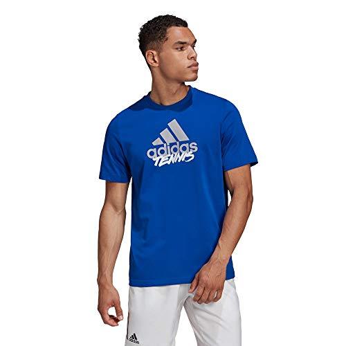 adidas M Ss Adi Ten Herren-T-Shirt S Azurblau