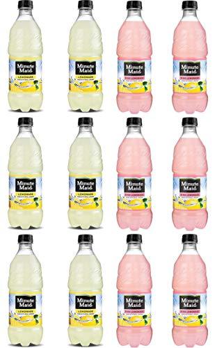 LUV BOX - Variety Minute Maid pack 20oz Bottles pack of 12 Lemonade ,Pink Lemonade