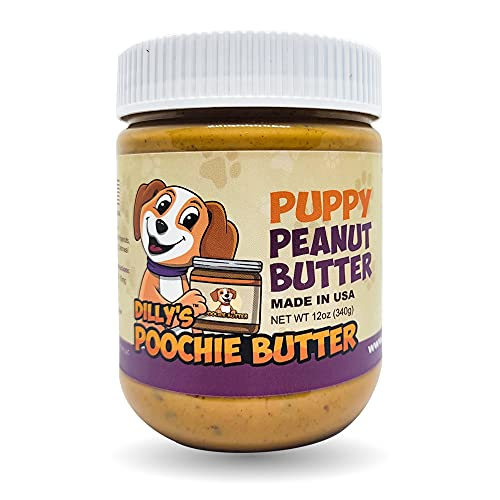 Puppy Peanut Butter | Poochie Butter | 12oz | Peanut Butter for Puppies