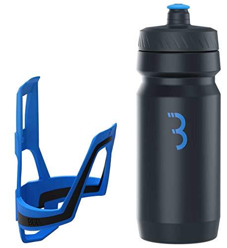 BBB Cycling Flaschenhalter Fahrrad Combo Fueltank Wasserflasche BBC-03C, Blau Schwarz / Schwarz Blau, 550 ml