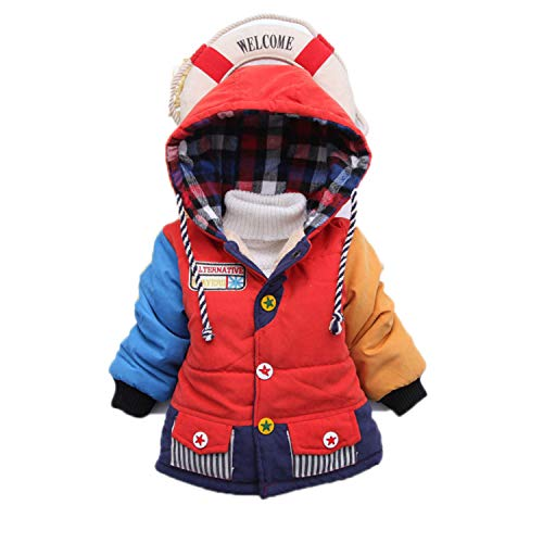 Guy Eugendssg Infant Coat Autumn Winter Baby Jackets For Baby Boys Jacket Kids Warm Outerwear Coats Red 6M