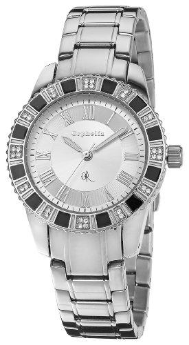 Orphelia 0 - Reloj de Cuarzo para Mujer, con Correa de Acero Inoxidable, Color Plateado