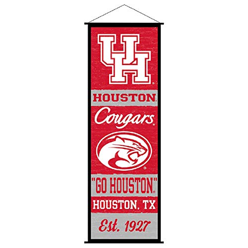 Houston Cougars Banner and Scroll Sign