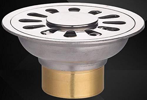 XINGSHANG Duschablauf Duschrinne 304 Edelstahl 9 cm Rundes Deodorant Bodenablauf Küche Bad Waschmaschine Balkon Dual-Use-Bodenablauf, A-Dual Use