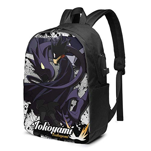 17-Inch Backpack with USB Port Fumikage Tokoyami Backpack for Any Travel