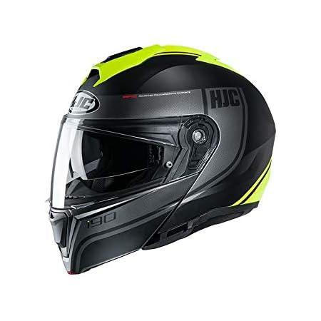 Hjc Helmets Herren Nc Helmet Schwarz Gelb Xs Auto