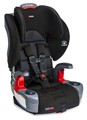 Britax Grow with You ClickTight Harness-2-Booster Car Seat | 2 Layer Impact Protection – 25 to 120 Pounds + Cool Flow Ventilating Fabric, Cool Flow Gray [New Version of Frontier]