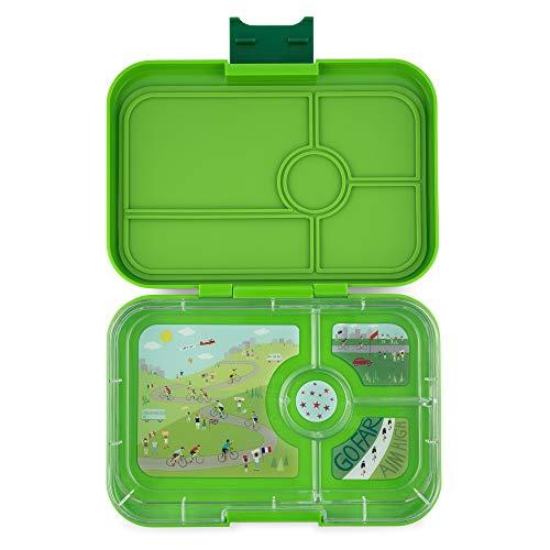 Yumbox Tapas XL Lunchbox (4er, Go Green) – Bento Box für Erwachsene und Jugendliche | Unterteilte Brotdose | 4 Auslaufsicher getrennte Fächer