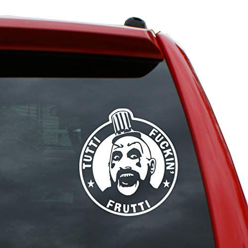 Black Heart Decals & More Captain Spaulding Vinyl Decal Sticker | Color: White | 5