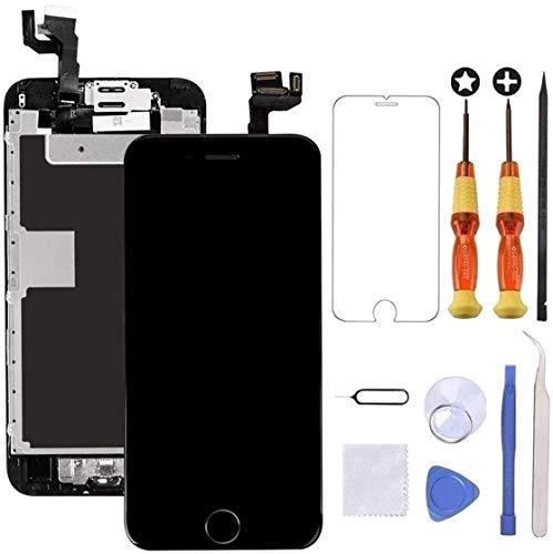 Brinonac Display per iPhone 6s Plus Schermo 5,5 Pollici Schermo LCD Touch Parti di Ricambio con Home Pulsante, Fotocamera, Stanghetta,Sensore Flex Utensili Inclusi (Nero)