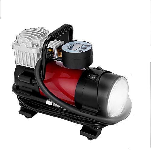 WERNG banden oppompen, 150 psi 12 V, digitaal, draagbaar, persluchtpomp, snel opblaasbaar, LED-licht, geschikt voor auto/motorfiets/fiets/speelgoed, opblaasbaar