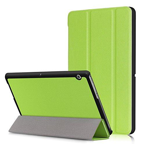 Xuanbeier Huawei MediaPad T3 10 Hülle Hülle-Ultra Dünn & Leicht PU Leder Schutzhülle Cover für Huawei MediaPad T3 10(9,6 Zoll)(Grün)