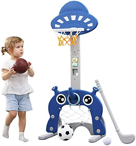 Basketball Hoop for Kids 5 in 1 Sports Activity Center Grow to Pro Adjustable Easy Score Basketball product image