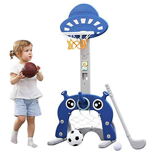 Basketball Hoop for Kids 5 in 1 Sports Activity Center Grow-to-Pro...