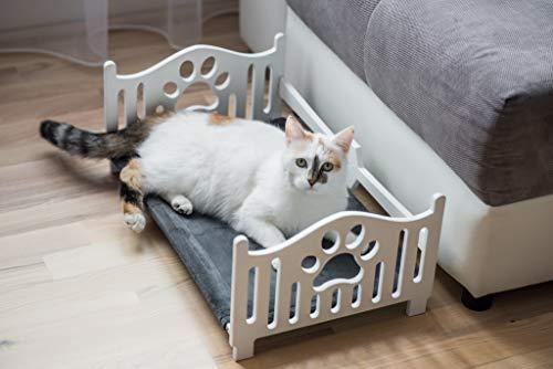 EWART WOODS - Cama de Madera para Gato, Hamaca ergonómica para Mascotas, Cama de Madera para Mascotas, Cama de Perro, Minimalista, para Interiores y Gatos