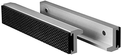 HRB Schraubstock Schutzbacken 150 mm, extra weiche Backen Zubehör, ideal für Schraubstock drehbar mit Spannbacken Breite mm, Ersatzbacken aus Aluminium mit Magneten (150 mm)