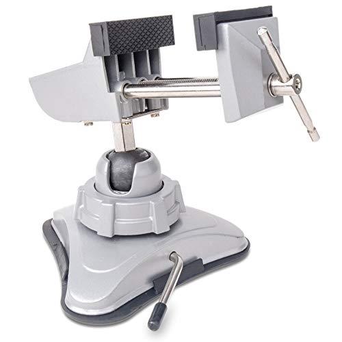 Hi-Spec Mini Tornillo de Banco de Apriete Giratorio con Ventosa de Sujeción para Precisión de...