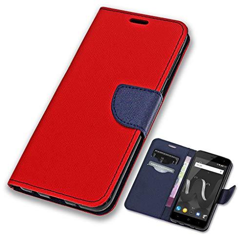 CoverOne Handyhülle für Wiko Lenny 4 Hülle, Premium Leder Flip Schutzhülle Handytasche Case Cover für Wiko Lenny 4 Tasche