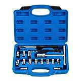MSW Set de Fresas para Inyectores Juego de Escariadores para Automóvil MSW-EGN-15 (Set Universal Fabricado en Acero, 17 Piezas, 13 escariadores)