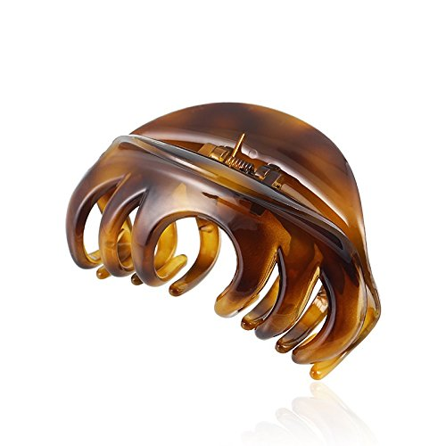 Rosette Large Chic Styling Hair Claw Clip Organic Glass Hair Clips Clamps Indoor Outdoor Hair Grip Hairpins Hairgrip for Women and Girls Hair Barrettes For Thick Hair