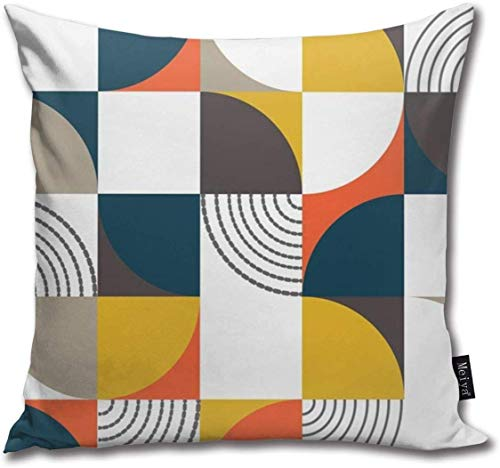 Bauhaus Style Cotton Linen Home Decorative Throw Pillow Case Cushion Cover for Sofa Couch, 18