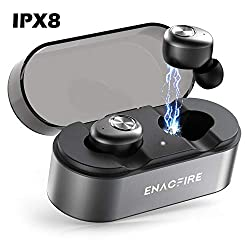 Bluetooth headphones, ENACFIRE E18 Plus Bluetooth 5.0 In-Ear Sport Wireless earphones with built-in microphone, 48h playing time APTX HD sound quality Wireless Charging CVC8.0, IPX8