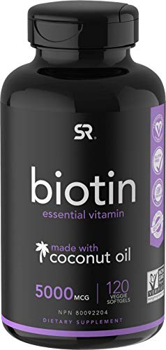Biotin (5,000mcg) with Coconut Oil