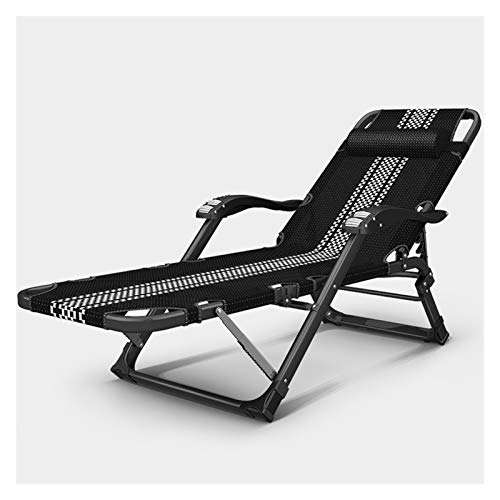 Sdraio in metallo, seta da sole pieghevole, sedia per giardino reclinabile 200 kg max.Carico statico, resistente alla ruggine, con tessuto sintetico traspirante, schienale 5 regolazione della posizion