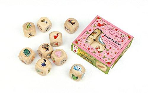 Erdbeerinchen Erdbeerfee. Erzählwürfel-Spiel: 9 Holzwürfel mit Spielanleitung