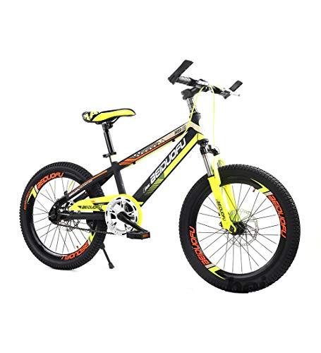 SJSF Y Biciclette per Bambini 16' 18'' 20'' Bicicletta per Bambini E Bambine dai 5 Anni nei da 18 Pollici 16 Pollici con Freno A V E Freno A Disco - BMX da Modello 2019,16inch