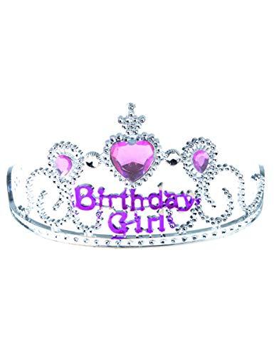 Generique - Diadème Birthday Girl Argent et Rose