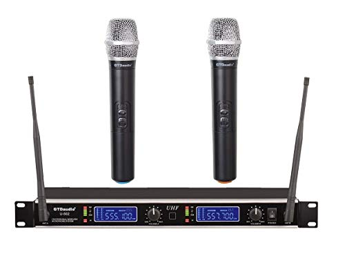 GTD Audio UHF Wireless Microphone System with 2 Microphones 502H