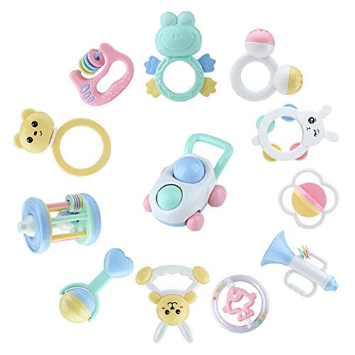 Learn More About Yuybei Toddler Toys Silicone Toddler Rattles Sand Hammers Baby Musical Instruments ...