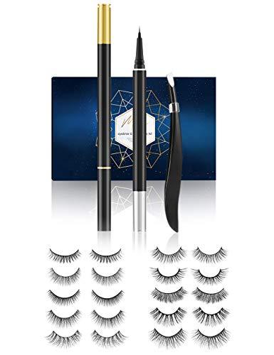 [10 Paar]3D magnetische Wimpern mit magnet Eyeliner,magnetic Wimpern,natürliche künstliche falsche Eyelashes,wasserdicht