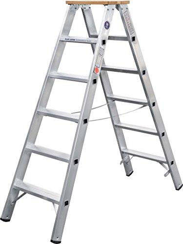 ILLER-LEITER Geis&Knoblauch Stufenstehleiter beidseit. 51703 3 Stufen Sprossenleiter 4039665011843