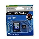 PQI microSDHC 8GB class4 SDアダプタ付 永久保証 BMRSDH4-8G [PC]