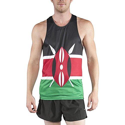 BOA Men's Print Running Singlet (2600P) (Kenya, Small)