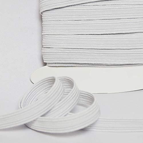 Largeur 1cm designers-factory Picot /élastique Blanc Elastique Lingerie par 10 m/ètres Elastique Blanc