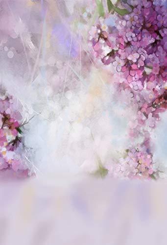 Fondo de fotografía con patrón de Retrato de Acuarela de Flores de Primavera Rosa para Estudio fotográfico A4 10x10ft / 3x3m