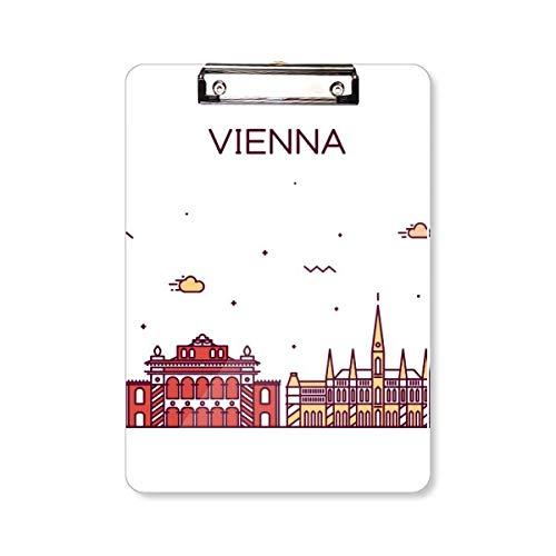 Wenen Oostenrijk plat oriëntatiepatroon klembord map schrijfblok achterplaat A4
