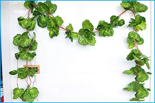 gzadq Ivy Simulation Decorates Rattan Red Maple Leaf Plastic Vines. 36 three-dimensional sea otter leaves.