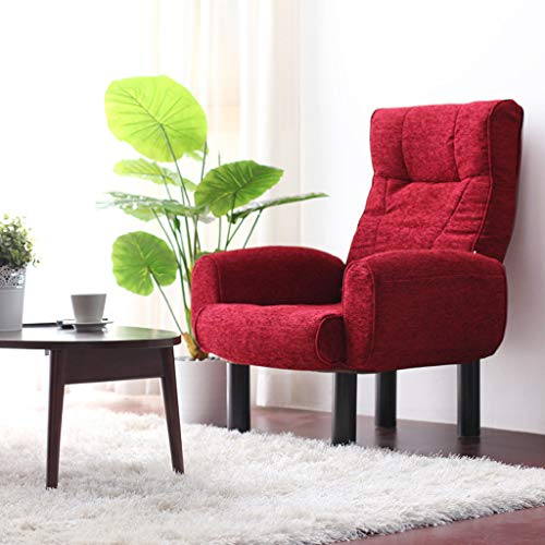 luyiyi Sillón Plegable Lazy Chair Sofa Home Lounge Lounge Lounge, 20 cm Pies (Color : Red)