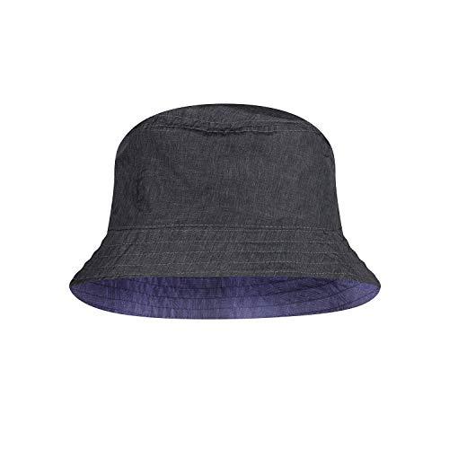 Buff Travel Bucket Hat Baskenmütze, blau, M/L